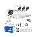 Zmodo 4 Channel 720p Mini sPoE System & 4 HD IP Cameras and 500GB Hard Drive ZM-SS7CD8D4-S-500GB
