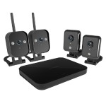 4 Channel 720p Wireless Mini NVR Kit with 4 IP Cameras & 1TB HDD