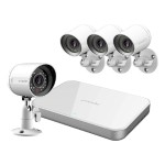 Zmodo 4 Channel 720p Mini sPoE System & 4 HD IP Cameras and 1TB Hard Drive ZM-SS7CD8D4-S-1TB