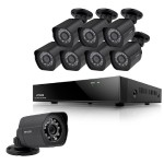 Zmodo 8CH 1080P NVR System with 8 HD Outdoor IP Cameras & 2TB HDD ZM-SS88B2B8-S-2TB