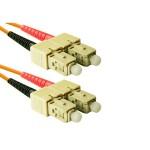 SC to SC Multimode Duplex Orange 20 Meter Fiber Cable