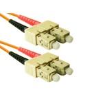 SC to SC 50/125 Multimode Duplex Orange 4 Meter Fiber Cable