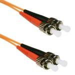 ST to ST 50/125 Multimode Duplex Orange 2 Meter Fiber Cable