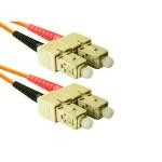 SC to SC Multimode Duplex Orange 30 Meter Fiber Cable
