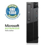 ThinkCentre M91p Intel Core i5-2400 Quad-Core 3.10GHz Small Form Factor Desktop - 4GB RAM, 250GB HDD, Gigabit Ethernet - Refurbished
