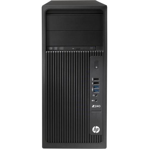 Workstation Z240 Tower Desktop - 1 x Core i7 6700 / 3.4 GHz - RAM 16 GB - SSD 256 GB -  Z Turbo Drive G2 - DVD SuperMulti - HD Graphics 530 - GigE - Win 7 Pro 64-bit (includes Win 10 Pro 64-bit License) - vPro - monitor: none - keyboard: US - Smart Buy
