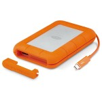 LaCie Rugged Thunderbolt - Hard drive - 2 TB - external ( portable ) - USB 3.0 / Thunderbolt - 256-bit AES STEV2000400