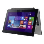 """Aspire Switch 11 V SW5-173P-61RD - Tablet - with keyboard dock - Core M 5Y10c / 800 MHz - Win 10 Pro 64-bit - 4 GB RAM - 128 GB SSD - 11.6"""" IPS touchscreen 1920 x 1080 ( Full HD ) - HD Graphics 5300 - Wi-Fi - gray"""