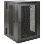 "18U Wall Mount Rack Enclosure Cabinet Wallmount 24.5"" Depth with Doors & Sides 200lb Cap"
