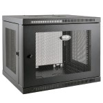 9U Wall Mount Rack Enclosure Server Cabinet Low Profile Deep - Rack enclosure cabinet - wall mountable - black - 9U - 19""