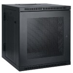 12U Wall Mount Rack Enclosure Cabinet Swinging Hinged Door Deep