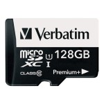 Verbatim PremiumPlus - Flash memory card ( microSDXC to SD adapter included ) - 128 GB - UHS Class 1 / Class10 - 533x - microSDXC UHS-I 99142