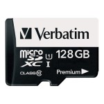 Verbatim Premium - Flash memory card ( SD adapter included ) - 128 GB - UHS Class 1 / Class10 - 300x - microSDXC UHS-I 44085