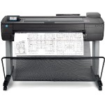 "DesignJet T730 - 36"" large-format printer - color - ink-jet - Roll (36 in x 150 ft), 35.98 in x 74.69 in - 2400 x 1200 dpi - up to 0.4 min/page (mono) / up to 0.4 min/page (color) - capacity: 1 roll - Gigabit LAN, Wi-Fi, USB 2.0 host"