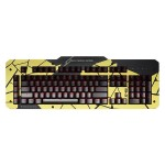 X40 Mechanical Gaming Keyboard Aluminum Top Panel, Defamer, Mustard