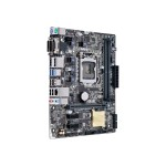 H110M-A/DP - Motherboard - micro ATX - LGA1151 Socket - H110 - USB 3.0 - Gigabit LAN - onboard graphics (CPU required) - HD Audio (8-channel)