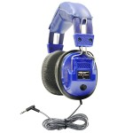 Kids Blue, Deluxe Stereo Headphone with 3.5mm Plug and Volume Control