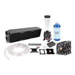 Pacific RL360 - Liquid cooling system kit - ( LGA775 Socket, LGA1156 Socket, Socket AM2, Socket AM2+, LGA1366 Socket, Socket AM3, LGA1155 Socket, Socket AM3+, LGA2011 Socket, Socket FM1, Socket FM2, LGA1150 Socket, LGA1151 Socket ) - 120 mm