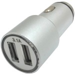 3.1-Amp Dual Car Charger (Silver)