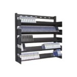 Turtle Multi Media Rack - 5 Shelves - Media storage - powder-coated steel - 150 x LTO - floor-standing
