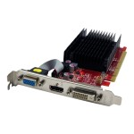 Radeon 5450 - Graphics card - Radeon HD 5450 - 2 GB DDR3 - PCIe 2.1 x16 - DVI, HDMI, VGA - fanless