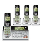CS6859-4 DECT 4-Handset Landline Telephone with Answering System