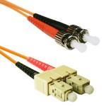 5m (16.40 ft) SC-ST OM1 62.5/125 Orange Duplex Multimode PVC Fiber Optic Patch/Jumper Cable