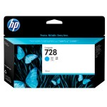 728 - 130 ml - dye-based cyan - original - DesignJet - ink cartridge - for DesignJet T730, T830