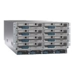 UCS 5108 Blade Server Chassis - Rack-mountable - 6U - up to 8 blades - power supply - hot-plug 2500 Watt - remanufactured - with 2x Fabric Extender  UCS 2208XP