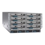 UCS 5108 Blade Server Chassis - Rack-mountable - 6U - up to 8 blades - power supply - hot-plug 2500 Watt - with 2x Fabric Extender  UCS 2208XP