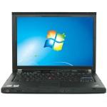 """Thinkpad T400 Intel Core 2 Duo P8600 2.4GHz Notebook - 4GB RAM, 250GB HDD, 14"""" HD, DVD+/-RW, Gigabit Ethernet - Refurbished"""