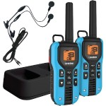40-Mile 2-Way FRS/GMRS Radios with Headsets (Blue; NiMH Batteries)