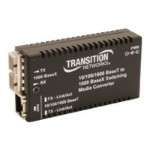 Stand-Alone Mini 10/100/1000 Bridging - Fiber media converter - Gigabit Ethernet - 10Base-T, 1000Base-SX, 100Base-TX, 1000Base-T - RJ-45 / SC multi-mode - up to 1800 ft - 850 nm