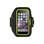 Sport-Fit Plus Armband - Arm pack for cell phone - neoprene - blacktop, limelight - for Apple iPhone 6, 6s
