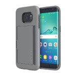 Stowaway Credit Card Case with Integrated Stand for Samsung Galaxy S7 - Gray