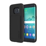Stowaway Credit Card Case with Integrated Stand for Samsung Galaxy S7 - Black