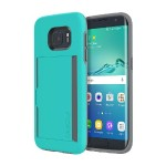 Stowaway Credit Card Case with Integrated Stand for Samsung Galaxy S7 - Teal
