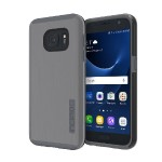 DualPro SHINE Dual Layer Protection with Brushed Aluminum Finish for Samsung Galaxy S7 - Gunmetal/Gray