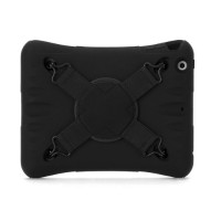Griffin Survivor CrossGrip - Back cover for tablet - silicone - black - for Apple iPad mini XX41953