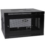 6U Wall Mount Rack Enclosure Server Cabinet Switch Depth Deep - Rack - cabinet - wall mountable - black - 6U - 19""