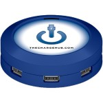 Inside Track Advantage ChargeHub 7-Port USB Universal Charging Station - Round/Blue CRGRD-004