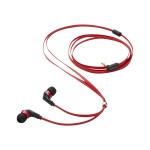 TANGLE-FREE EARPHONES RED/BLACK