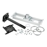 Suspended - Mounting kit (interface plate, suspended ceiling plate, column) for projector - lockable - black - suspended ceiling