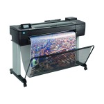 "DesignJet T730 - 36"" large-format printer - color - ink-jet - Roll (36 in x 150 ft) - 2400 x 1200 dpi - up to 0.4 min/page (mono) / up to 0.4 min/page (color) - Gigabit LAN, Wi-Fi, USB 2.0 host"