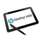 "HP Inc. ElitePad 1000 G2 - Tablet - no keyboard - Atom Z3795 / 1.59 GHz - Win 8.1 Pro 64-bit - 4 GB RAM - 64 GB SSD - 10.1"" touchscreen 1920 x 1200 - HD Graphics - NFC - with  ElitePad Docking Station,  ElitePad Expansion Jacket With Battery G4T19UT#ABA"