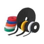 "VELCRO STRIP TIE 180"" 50LB CAN BE CUT TO DESIRED LENGTHS .75""W Black 15'/RL"