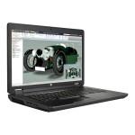 """ZBook 17 G2 Mobile Workstation - Core i7 4910MQ / 2.9 GHz - Win 7 Pro 64-bit (includes Win 8.1 Pro License) - 32 GB RAM - 256 GB SSD - DVD SuperMulti - 17.3"""" 1920 x 1080 (Full HD) - Quadro K4100M / HD Graphics 4600 - Wi-Fi - graphite, hematite - kbd: US"""