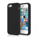 Incipio DualPro Hard Shell Case With Impact-Absorbing Core for iPhone SE - Black/Black IPH-1435-BKBK