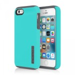 Incipio DualPro Hard Shell Case With Impact-Absorbing Core for iPhone SE - Turquoise/Charcoal IPH-1435-TRCH