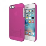 feather Pure Ultra-Thin Clear Snap-On Case for iPhone SE - Pink
